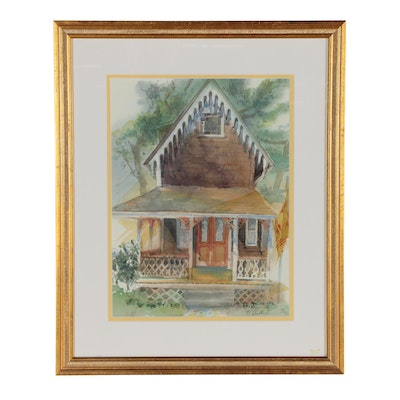 Margaret Voelker-Ferrier Architectural Watercolor Painting