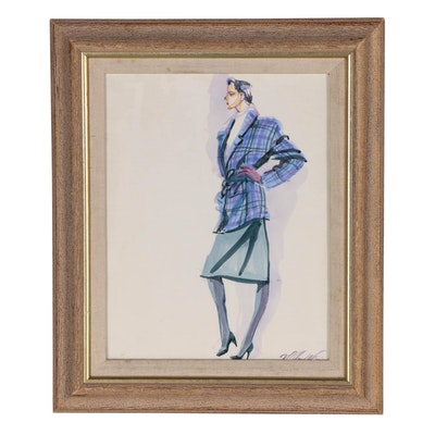 Margaret Voelker-Ferrier Watercolor Fashion Illustration