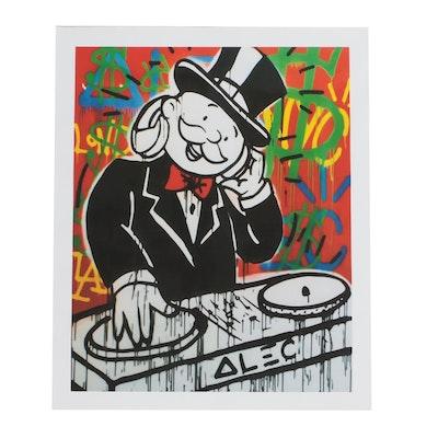 "Giclee Print after Alec Monopoly ""Dj"""