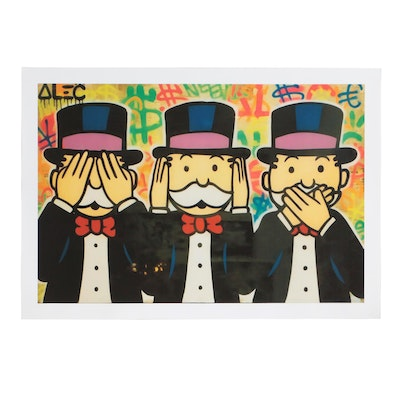 """Giclee Print after Alec Monopoly """"Three Monkey's Tribute"""""""