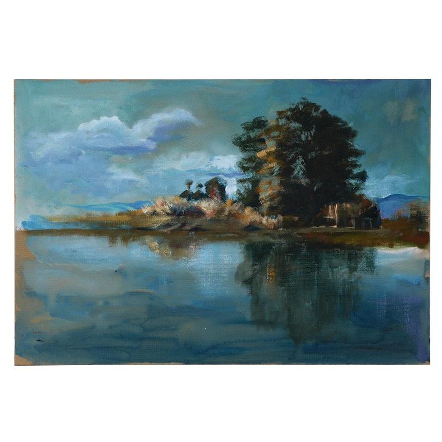 Margaret Voelker-Ferrier Landscape Oil Painting