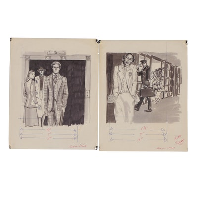 Margaret Voelker-Ferrier Figural Marker Illustrations