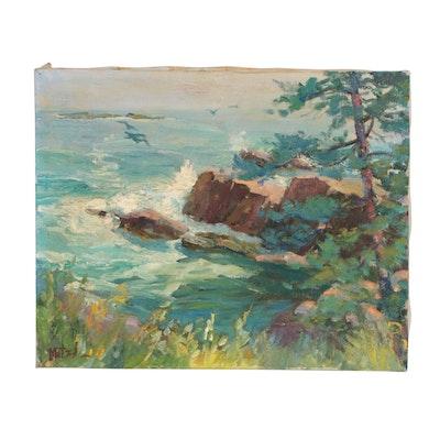 Mitzi Goward Seascape Oil Painting