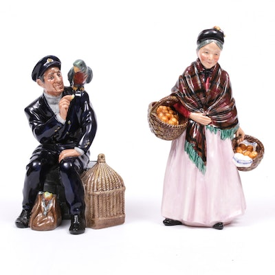"Royal Doulton ""The Orange Lady"" and ""Shore Leave"""
