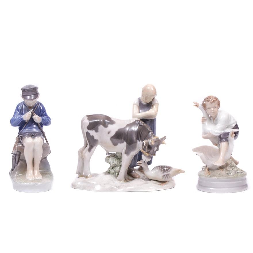 Royal Copenhagen and Bing & Grøndahl Porcelain Figurines