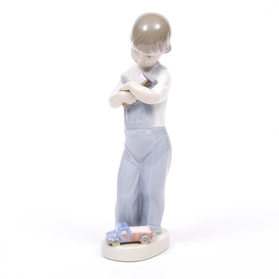 "Lladró ""Mechanic Boy with Hammer"" Porcelain Figurine, 1974–1977"