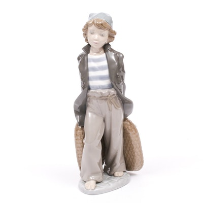 "Lladró ""Ship Boy with Baskets"" Porcelain Figurine by Salvador Furió, 1980s"