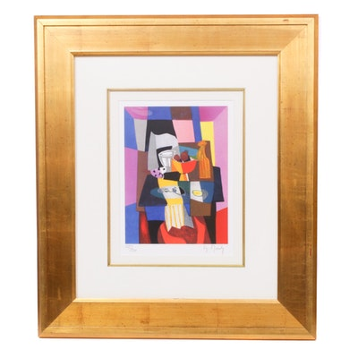 """Marcel Mouly Lithograph """"La Serviette Jaune"""", 2006"""