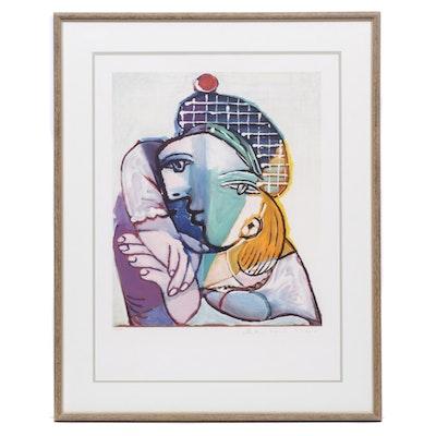 """Lithograph """"Portrait de Femme au Beret Ecossais"""" after Pablo Picasso"""