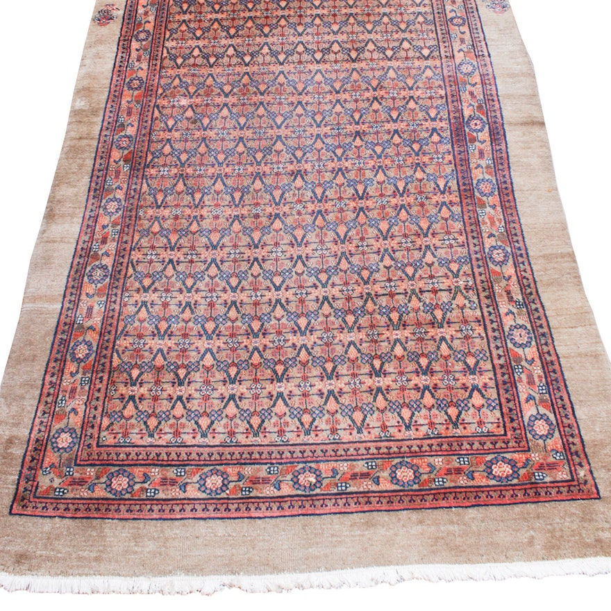 5'1 x 11'7 Hand-Knotted Persian Rug
