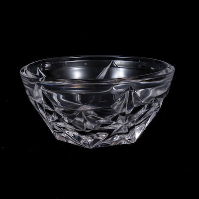 """Tiffany & Co. """"Star"""" Crystal Bowl, Mid to Late 20th Century"""