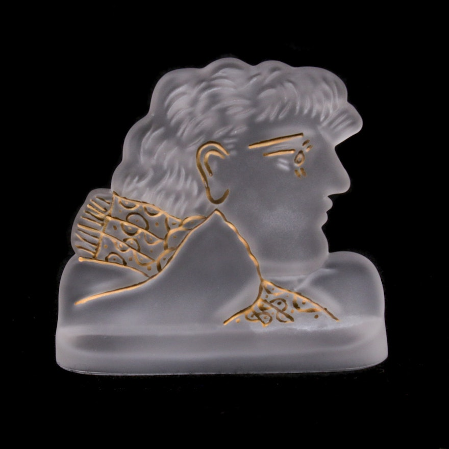 "Daum ""Fairest One"" Frosted Crystal Paperweight Designed by Alexander Fassianos"