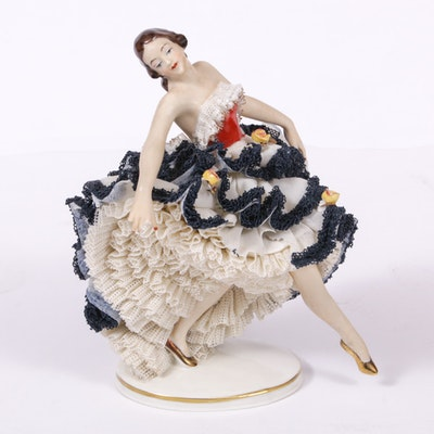"Dresden Lace ""Melodie"" Porcelain Figurine"