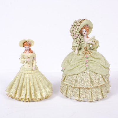 Heirlooms of Tomorrow Porcelain Lace Dress Figurines