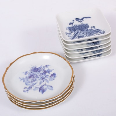 Royal Copenhagen and Limoges Porcelain Dishes, Mid to Late 20th Century