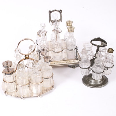 Silver Plate Cruet Sets, Early to Mid 20th Century