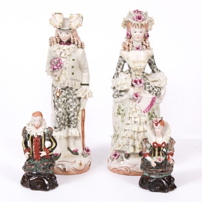 Cordey Porcelain Figurines of Victorian Couples