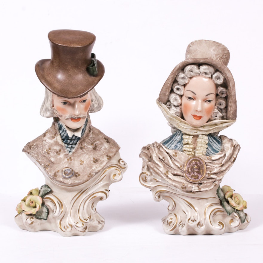 Cordey Victorian Style Porcelain Busts