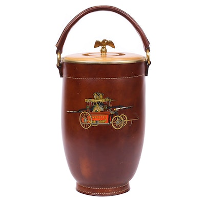 Loyal New York Papeete Leather Fire Bucket, Mid-20th Century