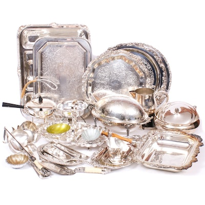 Poole, Reed & Barton, Wallace and Other Plated Silver Tableware