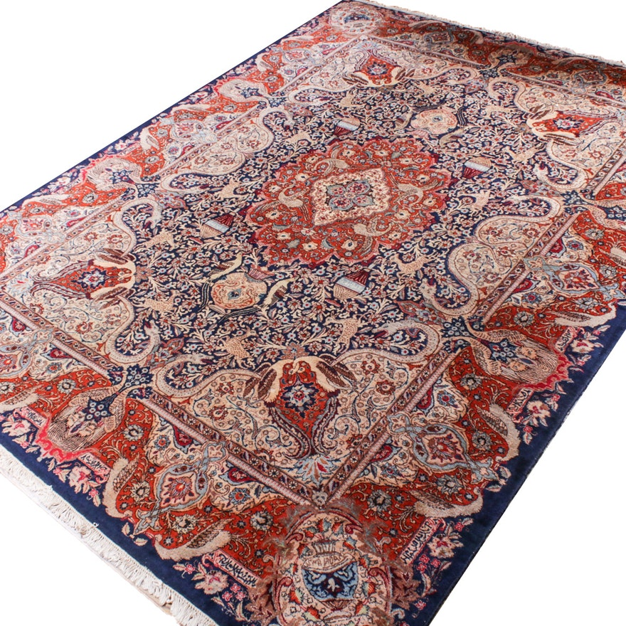 9'11 x 13' Hand-Knotted Persian Room Sized Rug
