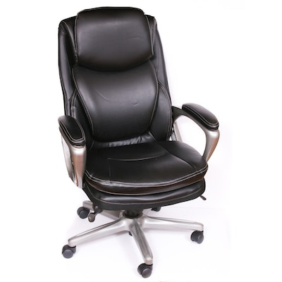 Serta Leather Rolling Office Chair, Contemporary