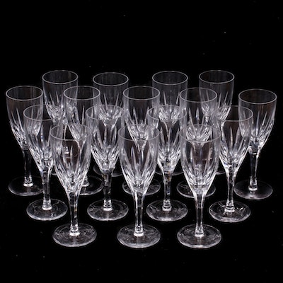 Atlantis Crystal White Wine Glasses, Mid to Late 20th Century
