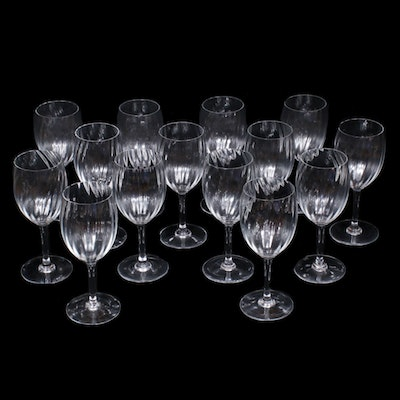 "Baccarat ""Livourne"" Crystal Water Goblets"
