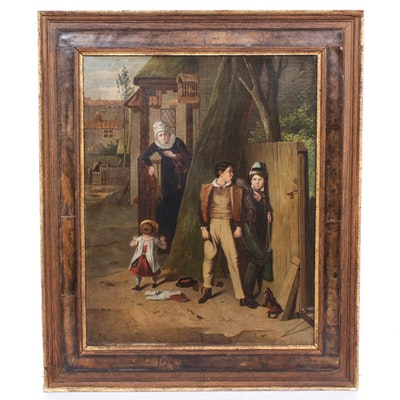 Genre Oil Painting, Early 20th Century
