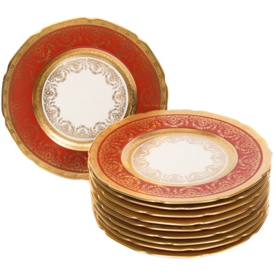 Heinrich & Co. Bavaria Porcelain Dinner Plates, Mid-20th Century