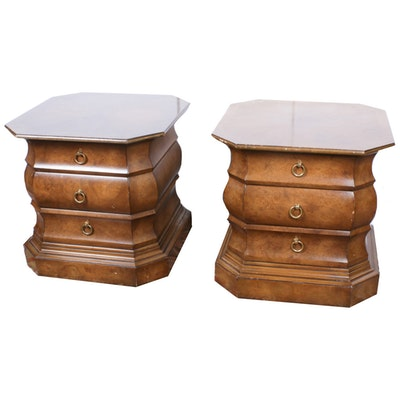 Mastercraft Furniture, Burlwood Side Tables, Mid-20th Century
