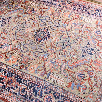 7'7 x 9'9 Hand-Knotted Persian Area Rug