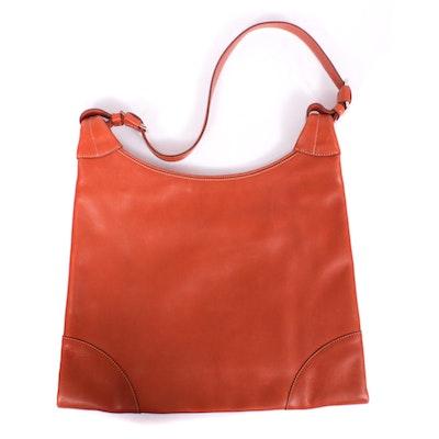 Loro Piana Cognac Calf Leather Flat Shoulder Bag