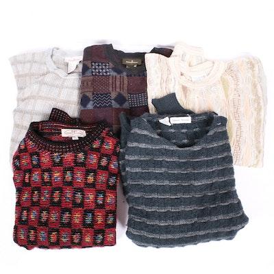 Men's Giorgio Armani, Ermenegildo Zegna, Coogi and Other Sweaters