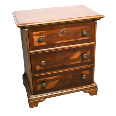 Fine Arts Furniture Co. Veneered Three-Drawer Chest, Mid-Late 20th Century