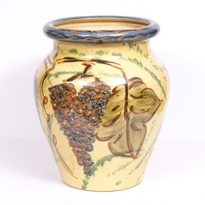 French Hand-Painted Terracotta Planter