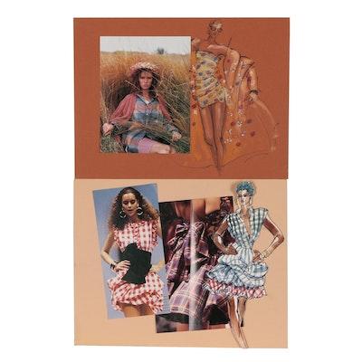Margaret Voelker-Ferrier Mixed Media Fashion Illustrations
