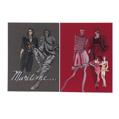 Margaret Voelker-Ferrier Gouache Fashion Illustration