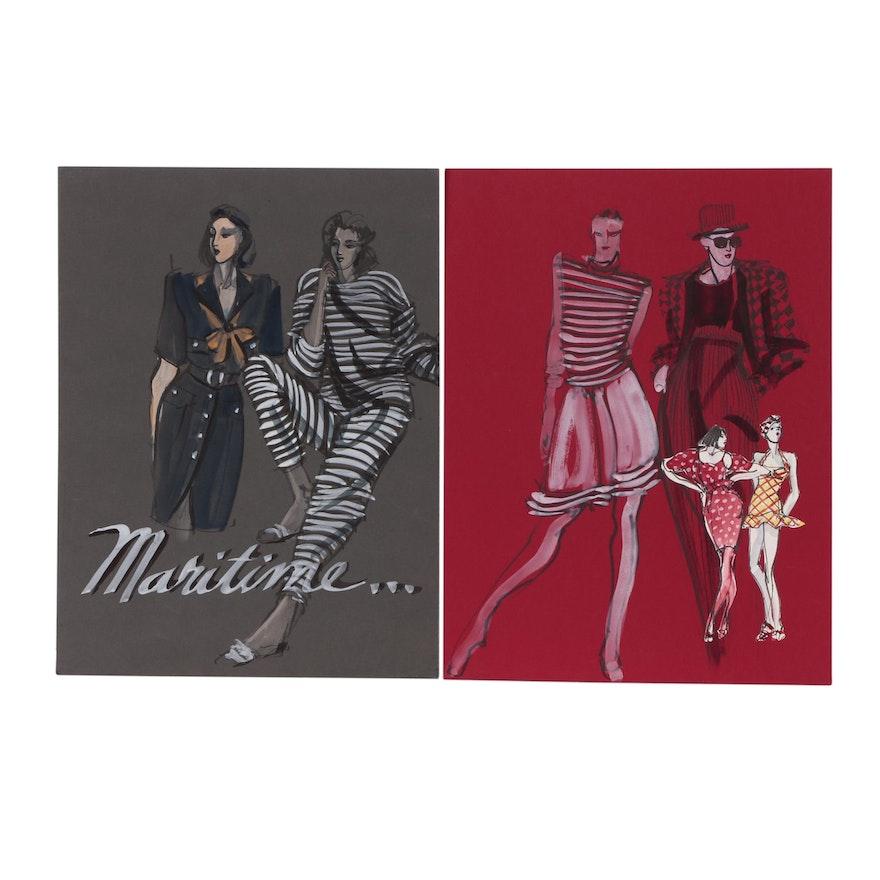 Margaret Voelker-Ferrier Gouache Fashion Illustration