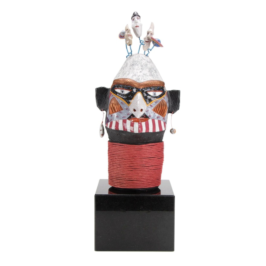 "David Stabley Ceramic Sculpture ""Moon Man"""