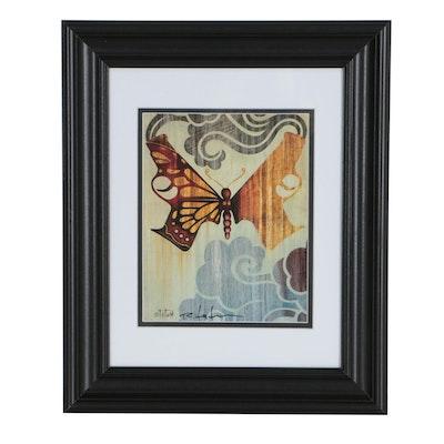 """Robert Tatum """"Butterfly Guns"""" Pop Art Giclée"""