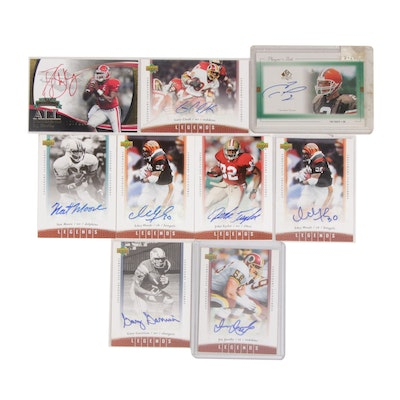 Autographed Football Trading Card Collection Including Ickey Woods