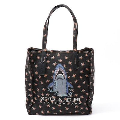 Coach Sharky Logo Medium Canvas Tote