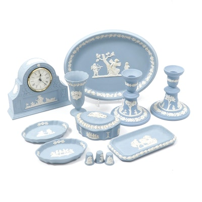Wedgwood Jasperware Serveware, Candlesticks, and Other Table Accessories