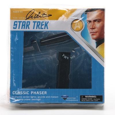 "William Shatner ""Capt. James T. Kirk"" Signed Phaser Toy, Schwartz COA"