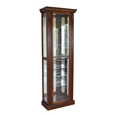 OKI Furniture Fair Illuminated Curio Cabinet, Late 20th Century