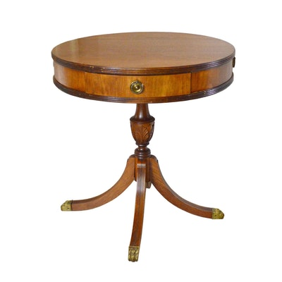 Regency Style Drum Table, 20th Century