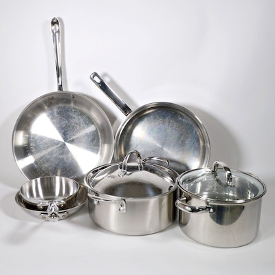 All-Clad and Belgique Tools of the Trade Stainless Steel Pots and Pans