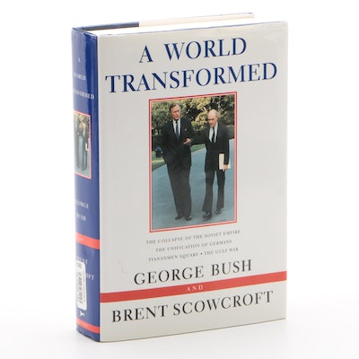 "George Bush Signed ""A World Transformed"" First Edition Hardcover Book, 1998"