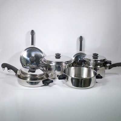 Saladmaster T304 Stainless Cookware Set, Late 20th Century